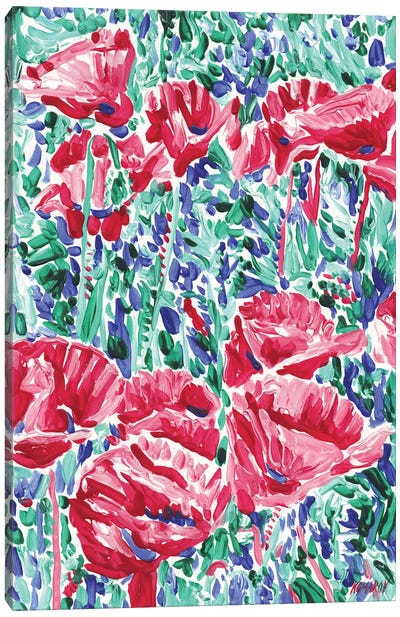Field With Poppies Canvas Art Print