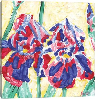 Viola Flowers Canvas Art Print