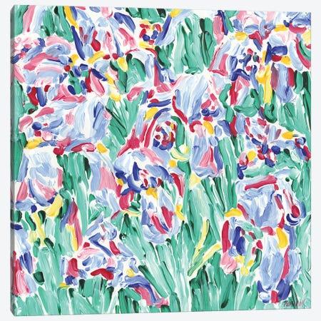 Spring Flowers Bed Canvas Print #VTK183} by Vitali Komarov Canvas Art Print