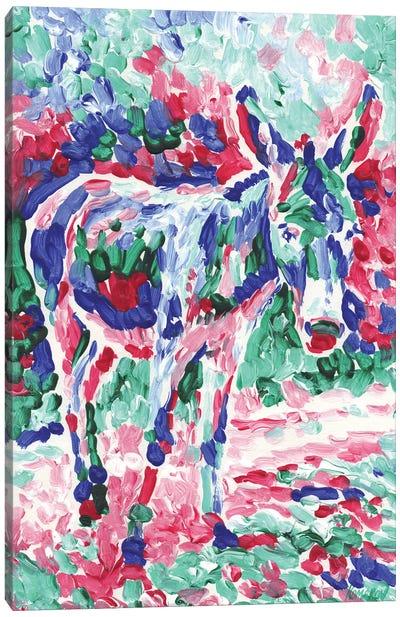 Baby Donkey Canvas Art Print