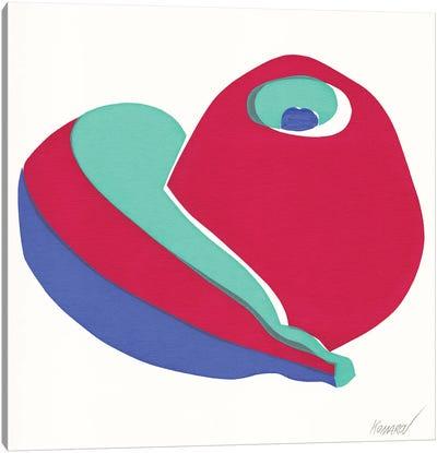 Banana And Apple Canvas Art Print