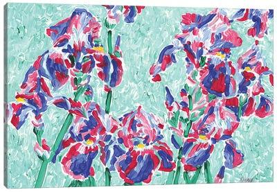 Iris Flower Field Canvas Art Print