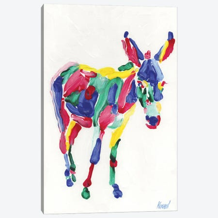 Rainbow Donkey Canvas Print #VTK193} by Vitali Komarov Canvas Art