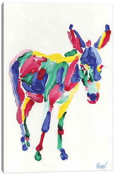 Rainbow Donkey Canvas Art Print