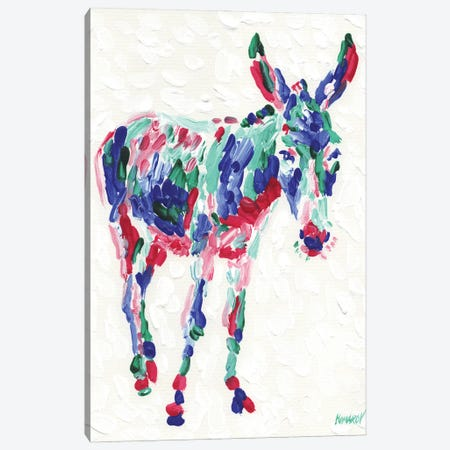 Colourful Donkey Canvas Print #VTK194} by Vitali Komarov Canvas Art Print