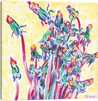 Armful Of Dandelions Canvas Art Print