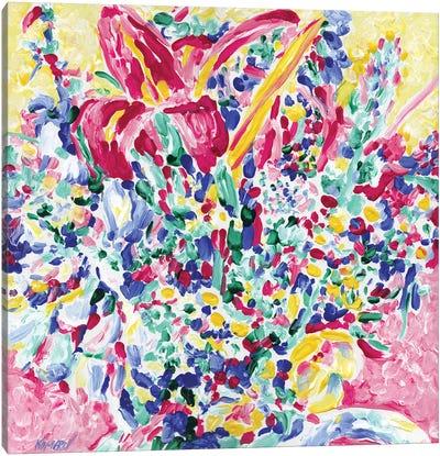 Bouquet In A Vase Canvas Art Print