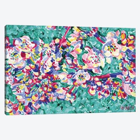 Blossoming Sakura Branch Canvas Print #VTK216} by Vitali Komarov Canvas Art