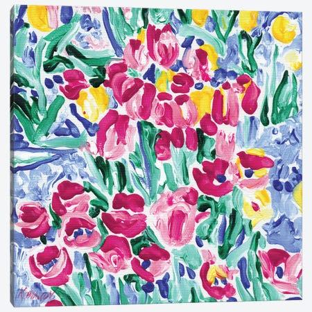 Tulip Flowers Field Canvas Print #VTK219} by Vitali Komarov Art Print