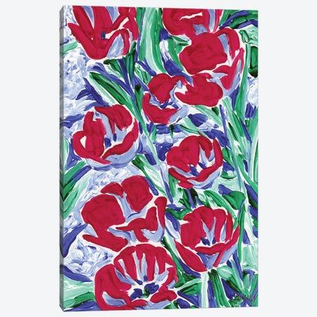 Spring Tulips Canvas Print #VTK221} by Vitali Komarov Canvas Artwork