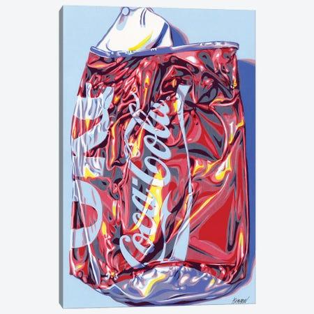 Crashed Cola Can Canvas Print #VTK24} by Vitali Komarov Canvas Art Print