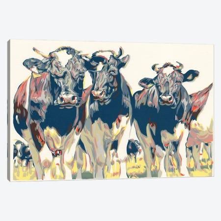 Herd Of Bulls Canvas Print #VTK26} by Vitali Komarov Art Print
