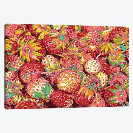 Wild Strawberries Canvas Print #VTK28} by Vitali Komarov Canvas Art