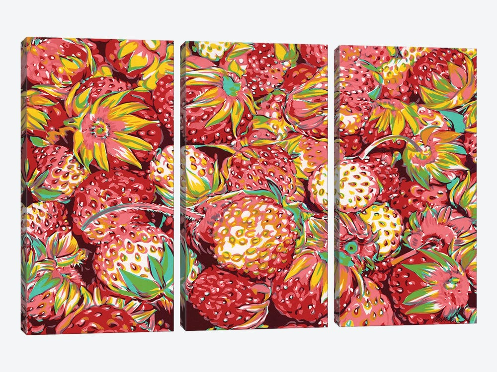 Wild Strawberries by Vitali Komarov 3-piece Canvas Artwork