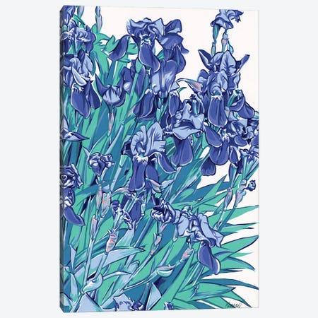 Iris Flowers Canvas Print #VTK29} by Vitali Komarov Canvas Art