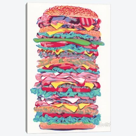 Burger Canvas Print #VTK32} by Vitali Komarov Art Print