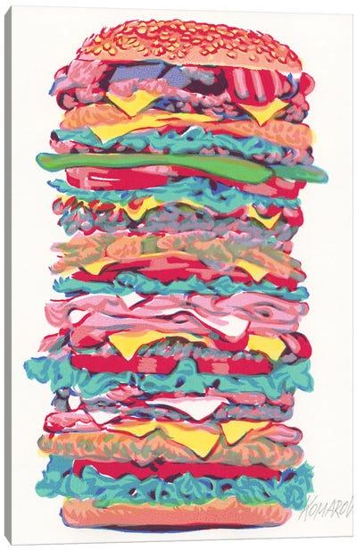 Burger Canvas Art Print