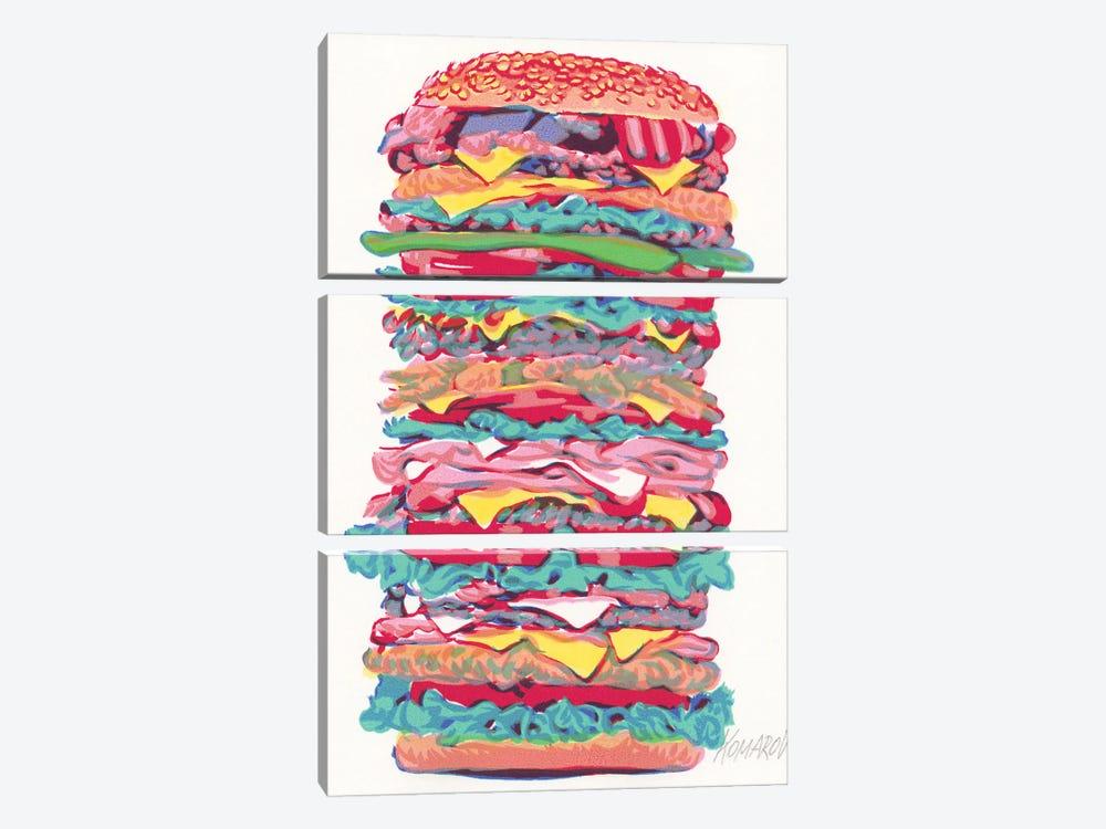 Burger by Vitali Komarov 3-piece Canvas Art Print