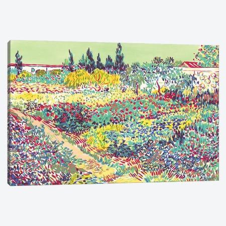 Garden At Arles Canvas Print #VTK39} by Vitali Komarov Canvas Print
