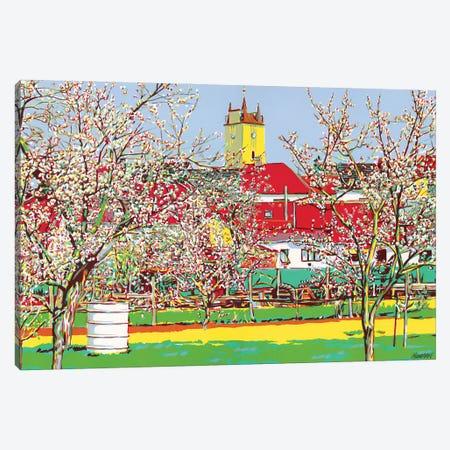 Village With Blossoming Gardens Canvas Print #VTK40} by Vitali Komarov Canvas Artwork