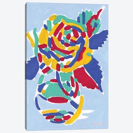 Vase With Rose Canvas Print #VTK46} by Vitali Komarov Canvas Print