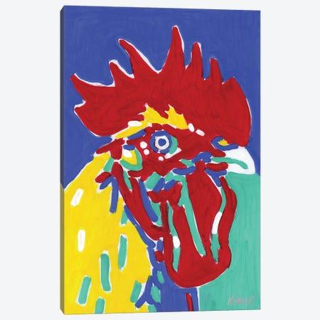 Colorful Rooster Canvas Print #VTK47} by Vitali Komarov Art Print