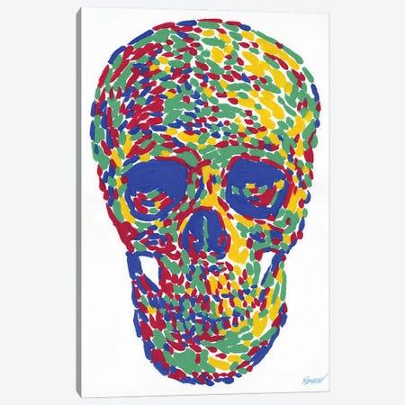Human Skull Canvas Print #VTK50} by Vitali Komarov Art Print