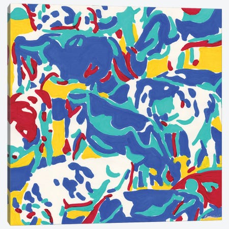 Colorful Herd Of Cows Canvas Print #VTK52} by Vitali Komarov Canvas Print