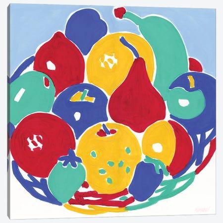 Basket With Fruits Canvas Print #VTK61} by Vitali Komarov Canvas Wall Art