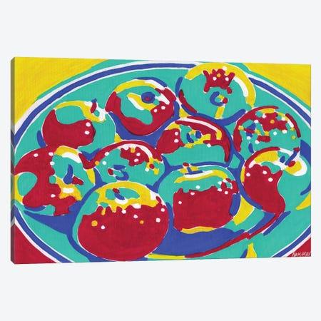 Plate With Apples Canvas Print #VTK64} by Vitali Komarov Art Print