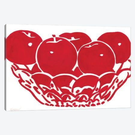 Vase With Apples Canvas Print #VTK65} by Vitali Komarov Canvas Print