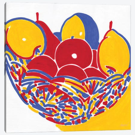 Vase With Fruits Canvas Print #VTK66} by Vitali Komarov Canvas Art Print