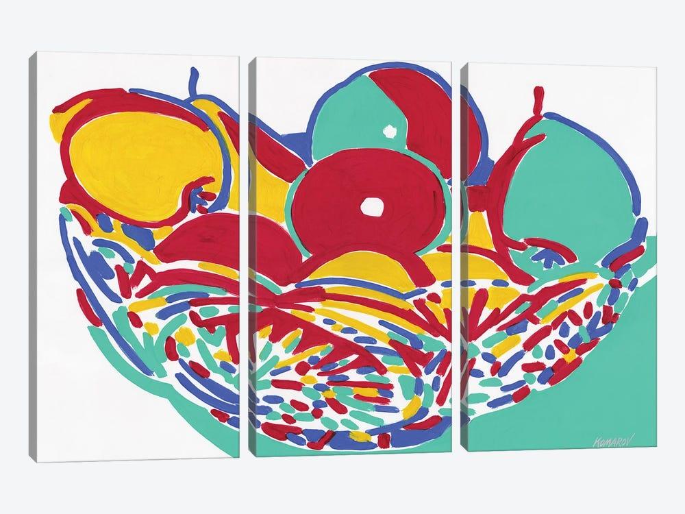 Fruit Vase by Vitali Komarov 3-piece Canvas Print