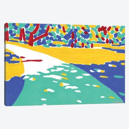 Sunlit Path Canvas Print #VTK73} by Vitali Komarov Canvas Art Print