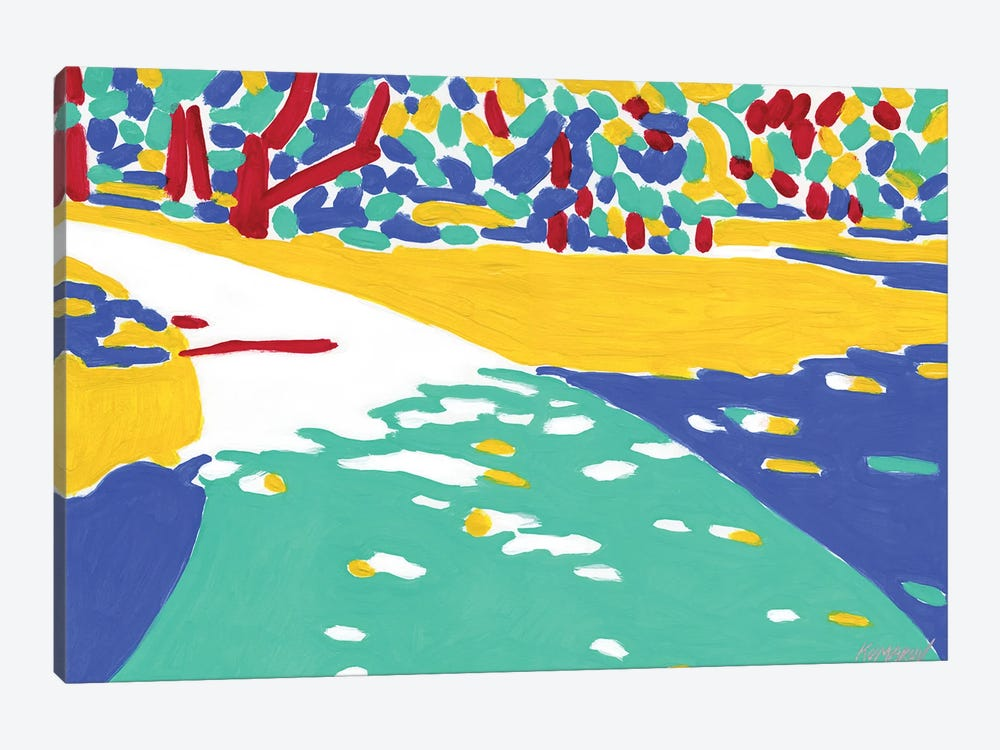 Sunlit Path by Vitali Komarov 1-piece Canvas Wall Art