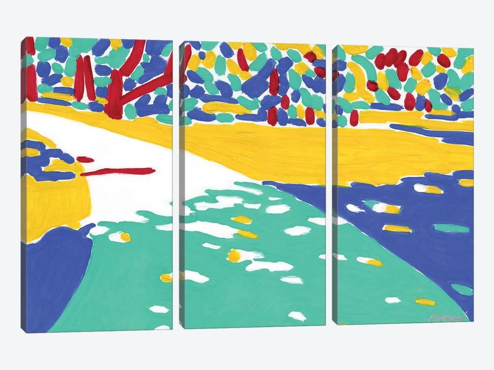 Sunlit Path by Vitali Komarov 3-piece Canvas Wall Art