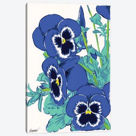 Pansy Flowers Canvas Print #VTK7} by Vitali Komarov Canvas Wall Art