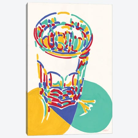 Glass With Water Canvas Print #VTK82} by Vitali Komarov Canvas Wall Art