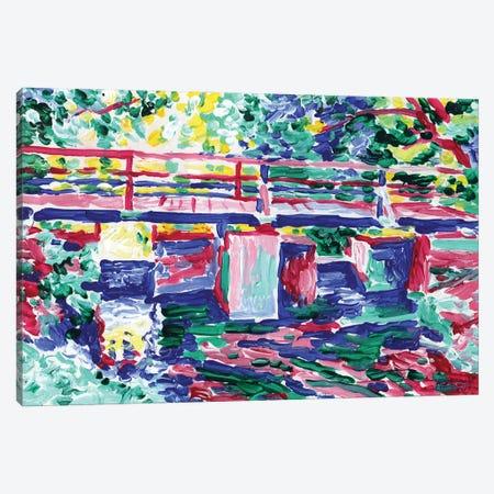 Reflection Of The Bridge In The River Canvas Print #VTK86} by Vitali Komarov Canvas Art Print