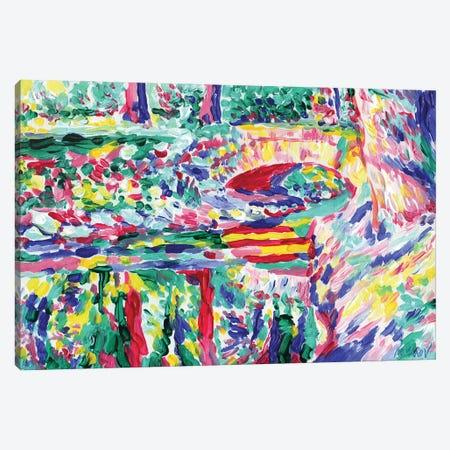 Landcape With Old Bridge Canvas Print #VTK87} by Vitali Komarov Canvas Art Print