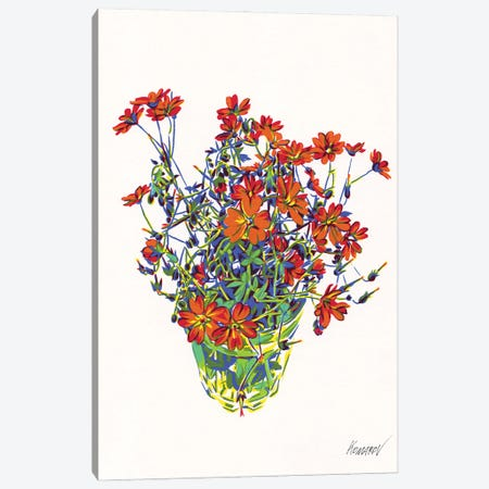 Wildflower Bouquet Canvas Print #VTK8} by Vitali Komarov Art Print