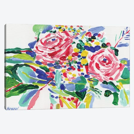 Bouquet With Roses Canvas Print #VTK91} by Vitali Komarov Canvas Print