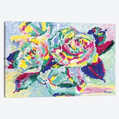 Yellow Roses Bouquet Canvas Print #VTK92} by Vitali Komarov Canvas Print