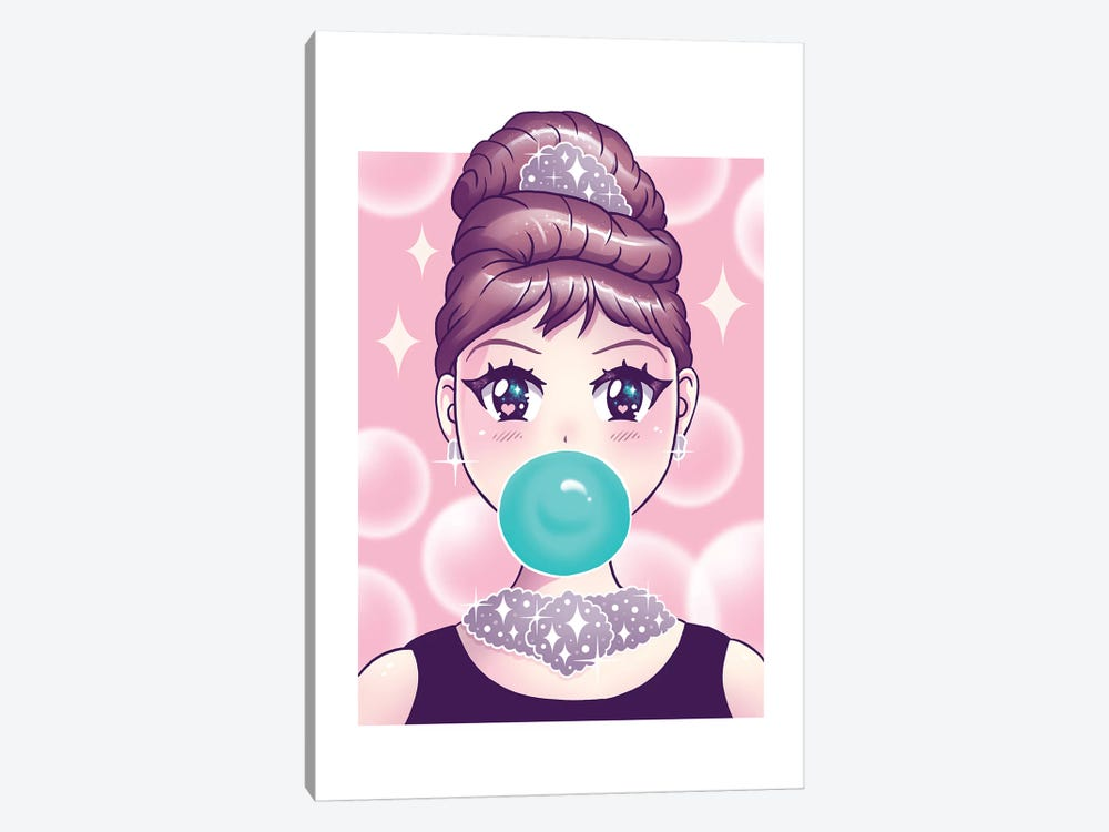 Kawaii Bubble Gum by Vincent Trinidad 1-piece Canvas Artwork
