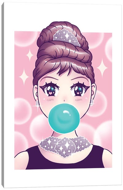 Kawaii Bubble Gum Canvas Art Print