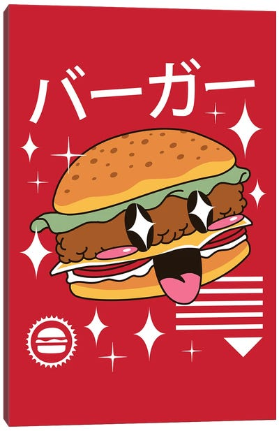 Kawaii Burger Canvas Art Print