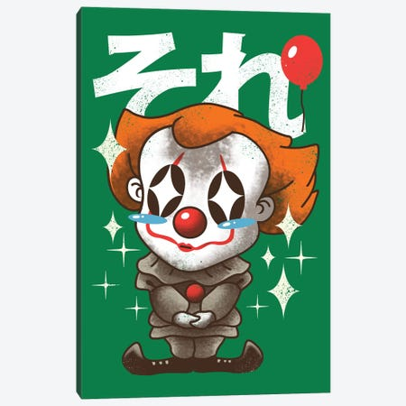 Kawaii Clown Canvas Print #VTR12} by Vincent Trinidad Canvas Artwork