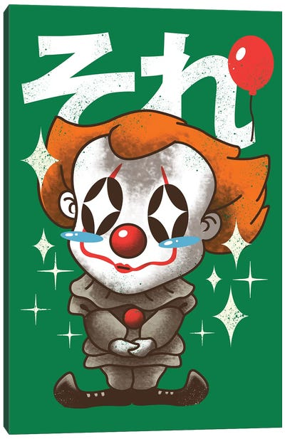 Kawaii Clown Canvas Art Print