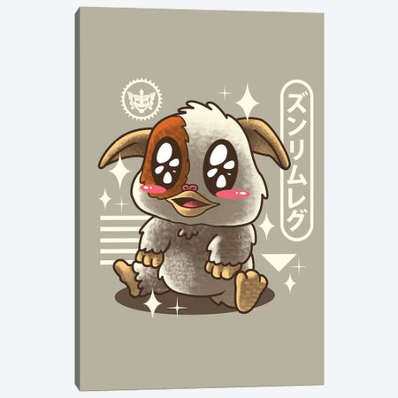 Kawaii Mogwai Canvas Print #VTR18} by Vincent Trinidad Canvas Artwork