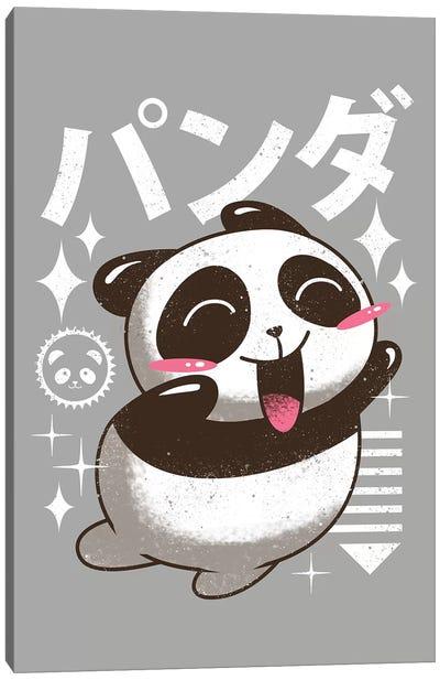 Kawaii Panda Canvas Art Print